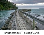 Old And Broken Wooden Jetty