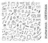 home related trendy doodles....   Shutterstock .eps vector #638554666