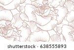 Stock vector rose vector pattern 638555893