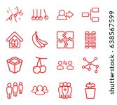 group icons set. set of 16... | Shutterstock .eps vector #638567599