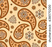 paisley seamless pattern.... | Shutterstock .eps vector #638570200