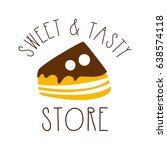 sweet and tasty store. colorful ... | Shutterstock .eps vector #638574118