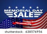 memorial day sale banner... | Shutterstock .eps vector #638576956