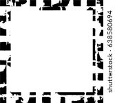 grunge black white square... | Shutterstock .eps vector #638580694
