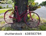 Decorative Red Bicycle With...