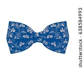 bow tie. lapis blue and pale... | Shutterstock .eps vector #638584993