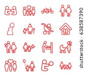 mother icons set. set of 16... | Shutterstock .eps vector #638587390