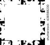 grunge black white square... | Shutterstock .eps vector #638588230