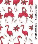 flamingo couple colorful... | Shutterstock .eps vector #638589400