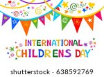 international childrens day. ... | Shutterstock .eps vector #638592769
