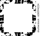 grunge black white square... | Shutterstock .eps vector #638594224