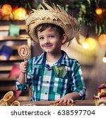 brazilian festa junina party | Shutterstock . vector #638597704