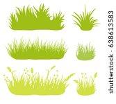 set of vector grass | Shutterstock .eps vector #638613583