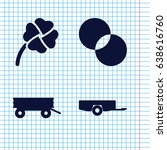 set of 4 three filled icons... | Shutterstock .eps vector #638616760