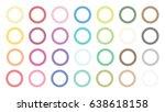 open eyelet scallop frame outer ... | Shutterstock .eps vector #638618158