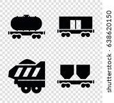 wagon icons set. set of 4 wagon ... | Shutterstock .eps vector #638620150