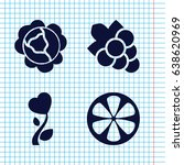 set of 4 plant filled icons...   Shutterstock .eps vector #638620969