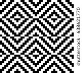 vector seamless pattern.... | Shutterstock .eps vector #638621770