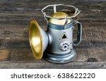 antique railroad powerlite... | Shutterstock . vector #638622220