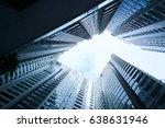 abstract low angle view of... | Shutterstock . vector #638631946