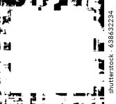 grunge black white square... | Shutterstock .eps vector #638632234