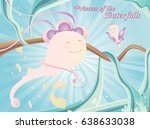 princess of the waterfalls kids ... | Shutterstock .eps vector #638633038