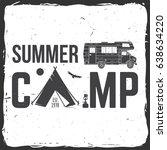 summer camp. vector... | Shutterstock .eps vector #638634220