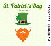 st patrick's day | Shutterstock .eps vector #638637253