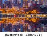 chongqing hongyadong night ... | Shutterstock . vector #638641714