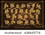 the pontifice   vintage gothic... | Shutterstock .eps vector #638645776