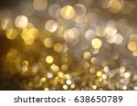 abstract golden bokeh... | Shutterstock . vector #638650789