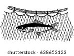 the caught commercial fish in... | Shutterstock .eps vector #638653123