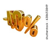 gold  40   minus forty percent... | Shutterstock . vector #638653849