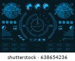 futuristic virtual graphic...   Shutterstock .eps vector #638654236