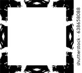grunge black white square... | Shutterstock .eps vector #638658088