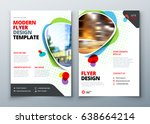 flyer template layout design.... | Shutterstock .eps vector #638664214