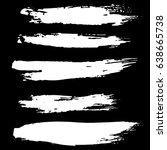 ink vector brush strokes set.... | Shutterstock .eps vector #638665738