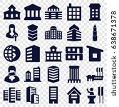government icons set. set of 25 ... | Shutterstock .eps vector #638671378