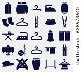 cloth icons set. set of 25... | Shutterstock .eps vector #638673640