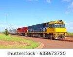the ghan train  australia | Shutterstock . vector #638673730