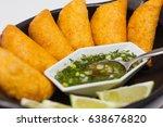 typical colombian empanadas... | Shutterstock . vector #638676820
