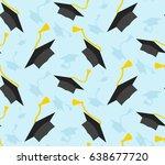 seamless graduation ceremony... | Shutterstock .eps vector #638677720