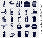 drink icons set. set of 25... | Shutterstock .eps vector #638681560