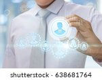 managing person concept .... | Shutterstock . vector #638681764
