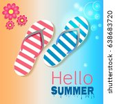 summer holiday party vector... | Shutterstock .eps vector #638683720