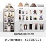 Set Of European Facade Building ...