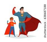 superheroes retro composition... | Shutterstock .eps vector #638687188