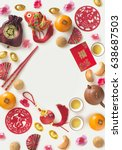 chinese new year decorative... | Shutterstock . vector #638687503