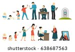 generations development people... | Shutterstock .eps vector #638687563