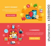two ecommerce banner set with... | Shutterstock .eps vector #638688400